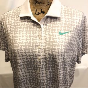 Nike Golf collard shirt women's drifit Nwot xL